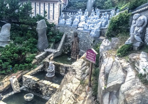 A temple filled with statues.