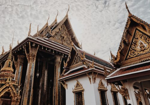 An ornately decorated palace in Thailand.